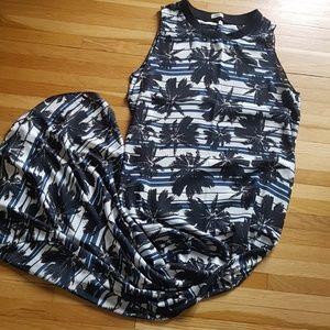 NWOT L'agence Palm Tree Sleeveless Maxi Dress sz.S